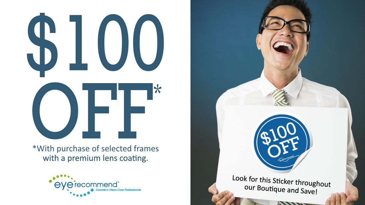 $100 off ad